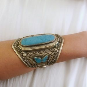 Child of Wild Turquoise + Silver Arm Cuff